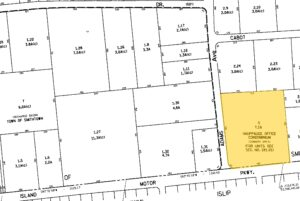 140 Adams Ave Hauppauge property line
